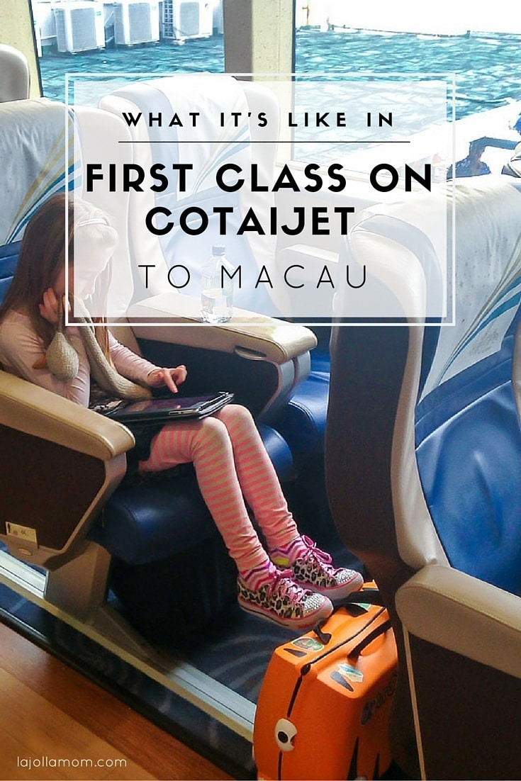 If traveling to Macau from Hong Kong by ferry, definitely book first class on Cotaijet. Here's why.