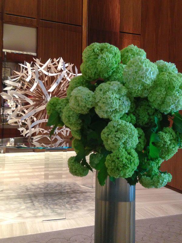 Four Seasons Hotel Toronto Hydrangeas and Dandelion