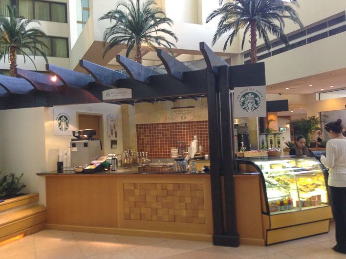 A Starbucks in the lobby