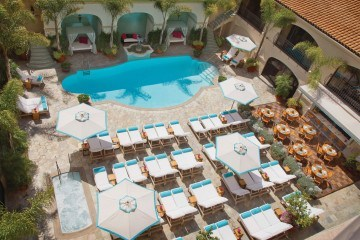 The Beverly Wilshire hotel pool