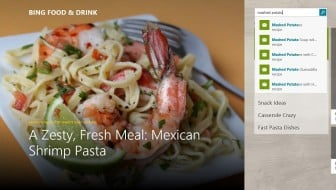 Bing Food and Drink App