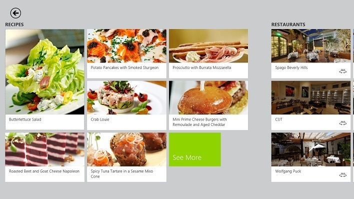Bing Food and Drink App Celebrity Chef Recipes