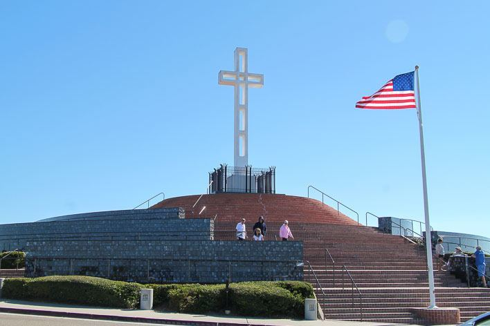 Honoring Military At Mt Soledad Veterans Memorial In La Jolla