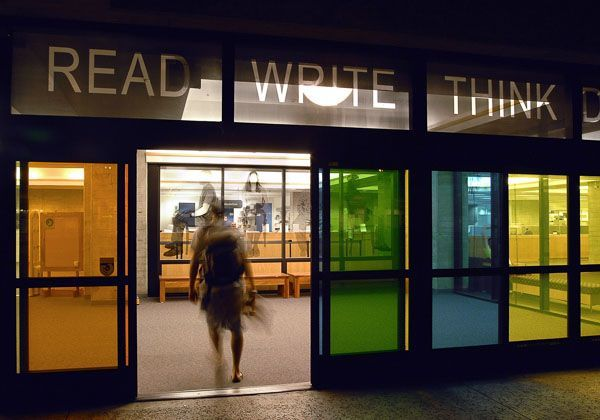 READ WRITE THINK DREAM in UC San Diego Stuart Collection