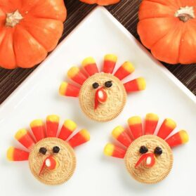 Kids Recipe: Crazy Easy Thanksgiving Turkey Cookie Dessert