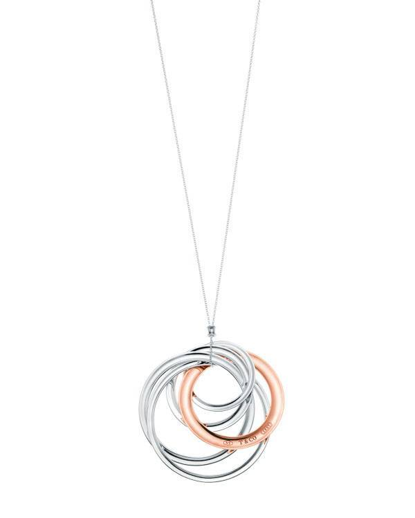 Tiffany 1837™ interlocking circles pendant in RUBEDO™ metal: $1,250