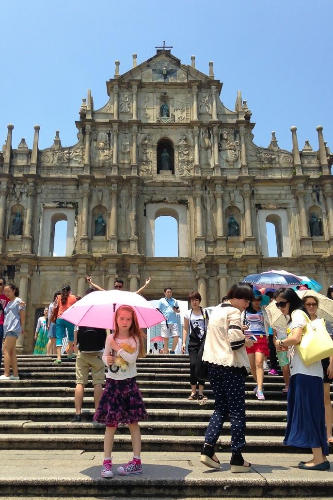 Four Seasons Hotel Macau with kids ruins St Pau