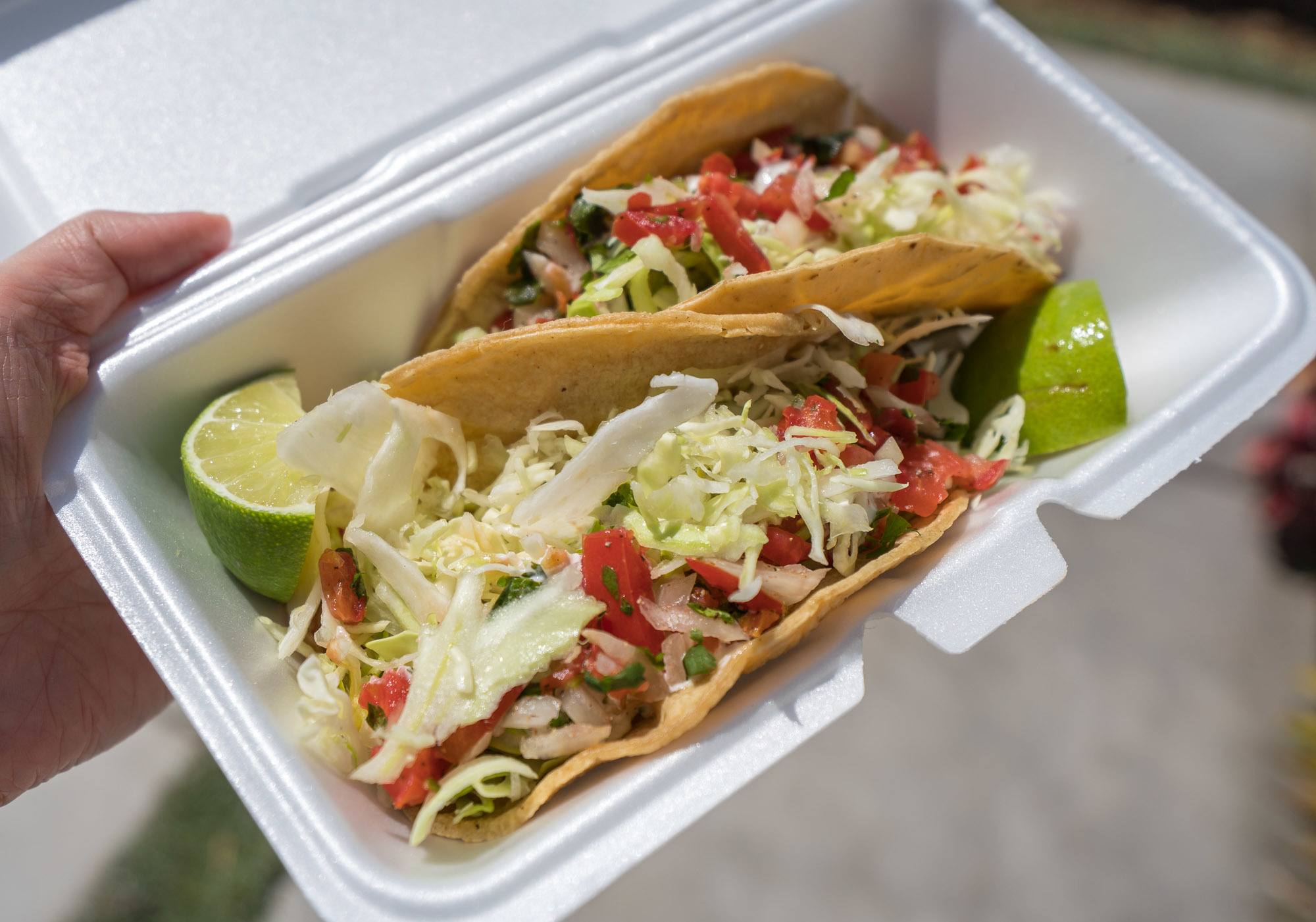 Taco Surf PB has some of the best fish tacos in Pacific Beach