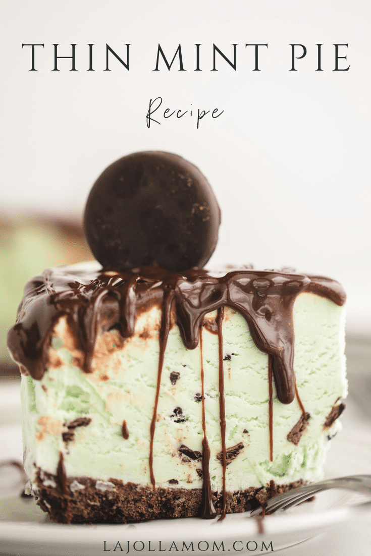 A Girl Scout cookies recipe for Thin Mints mint chip ice cream pie