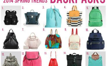 spring 2014 trends backpacks