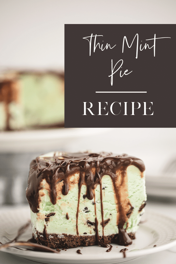 How to make Thin Mints cookies ice cream pie, a Girl Scout cookies recipe