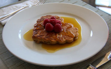 Kids Recipes Whole Wheat Pancakes with Raspberries