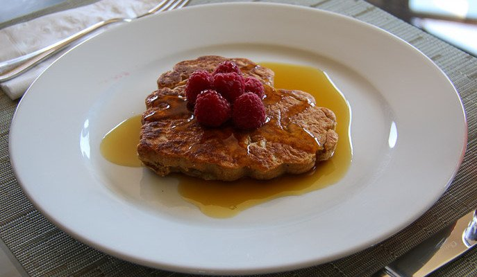 Kids Recipes Whole Wheat Pancakes with Raspberries