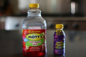 healthy kids snacks Mott's juice