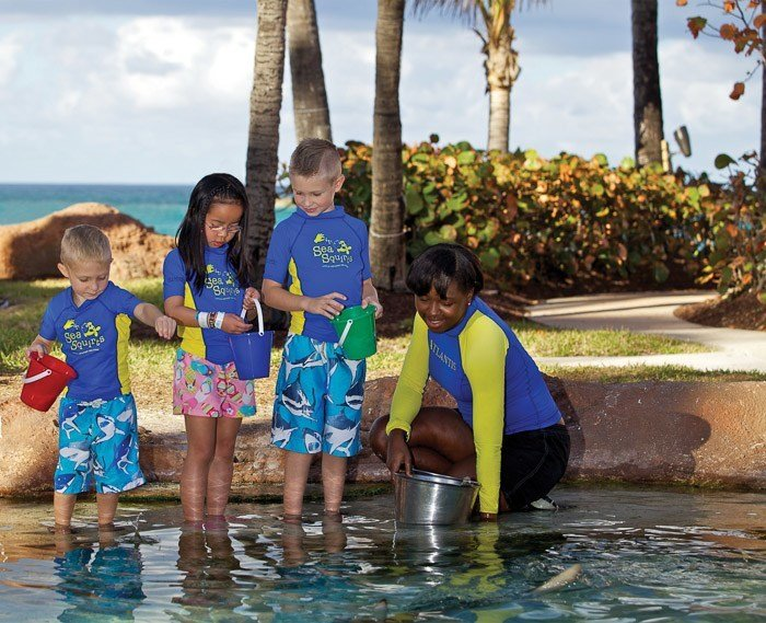 Sea Squirts kids educational activity at Atlantis Resort