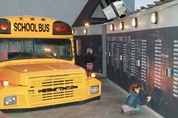Bo-beau restaurant in La Mesa is kid-friendly with a school bus!