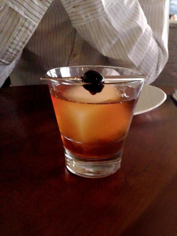cusp la jolla restaurant bourbon cocktail