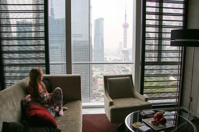 four seasons hotel shanghai pudong room view