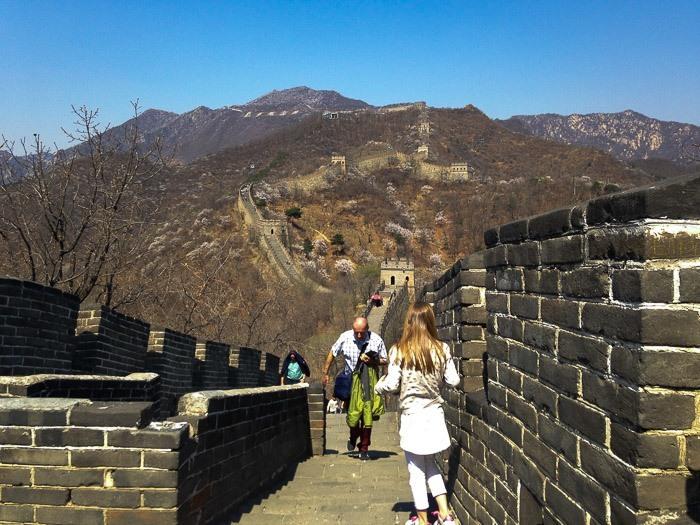 great wall china with kids mutianyu