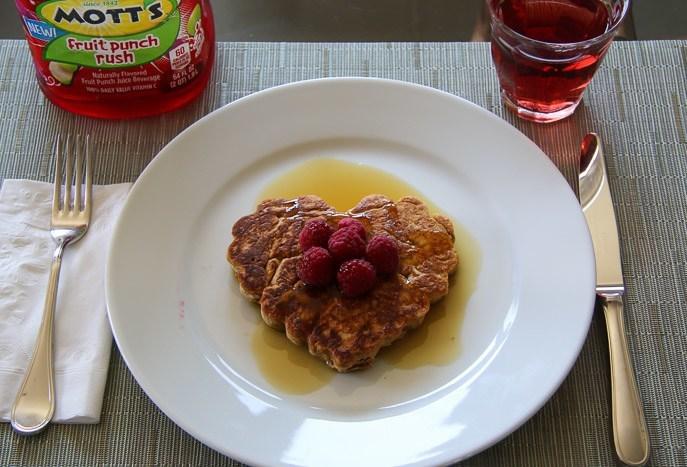 healthy kids breakfast pancakes juice