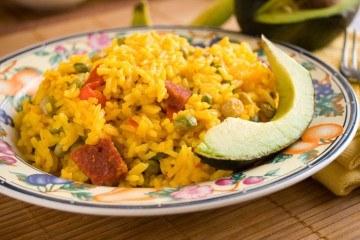 puerto rican food arroz con gandules