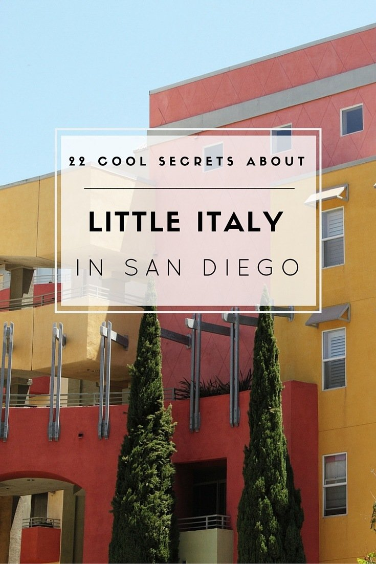 Learn 22 cool things about San Diego's Little Italy... the largest Little Italy in the nation!