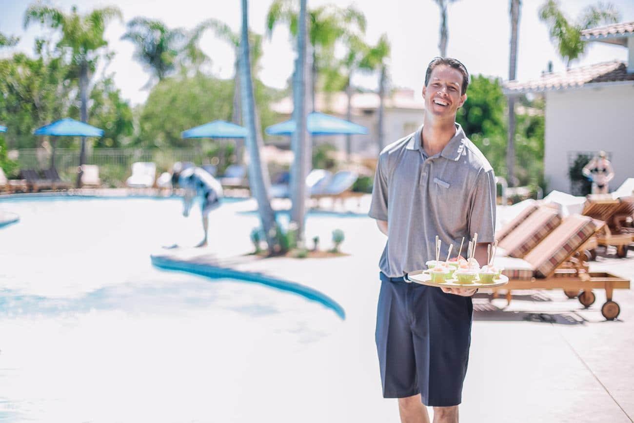 Poolside treats at Four Seasons Residence Club Aviara, a North San Diego luxury hotel