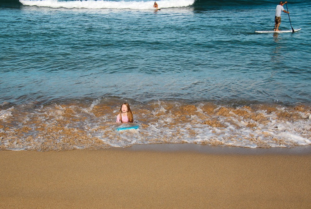 kaanapali alii beach with kids