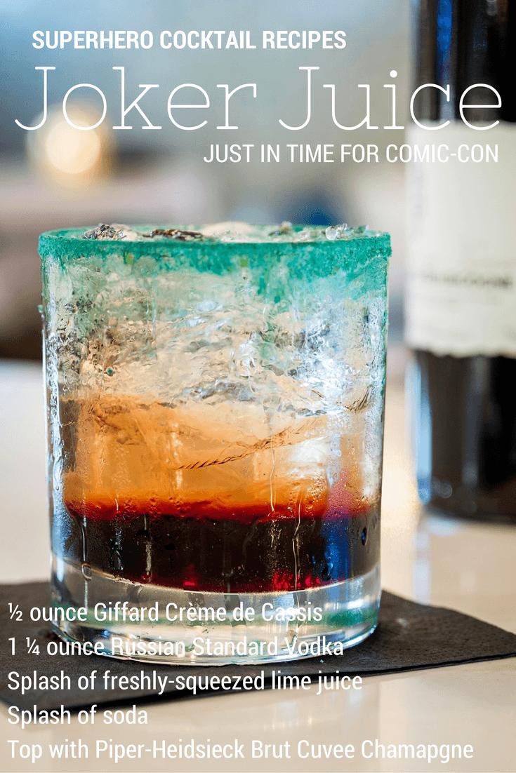 superhero cocktail recipe comic con