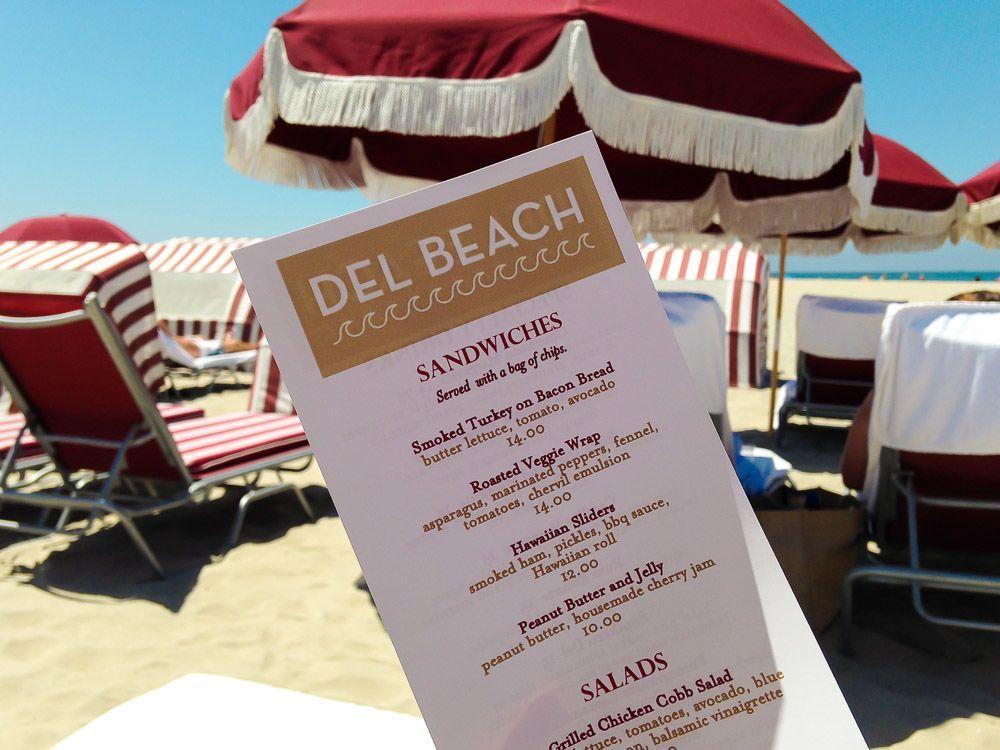 del beach food hotel del coronado