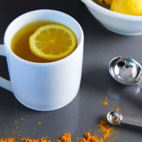 Daily Detox: Drink Warm Lemon Water with Turmeric