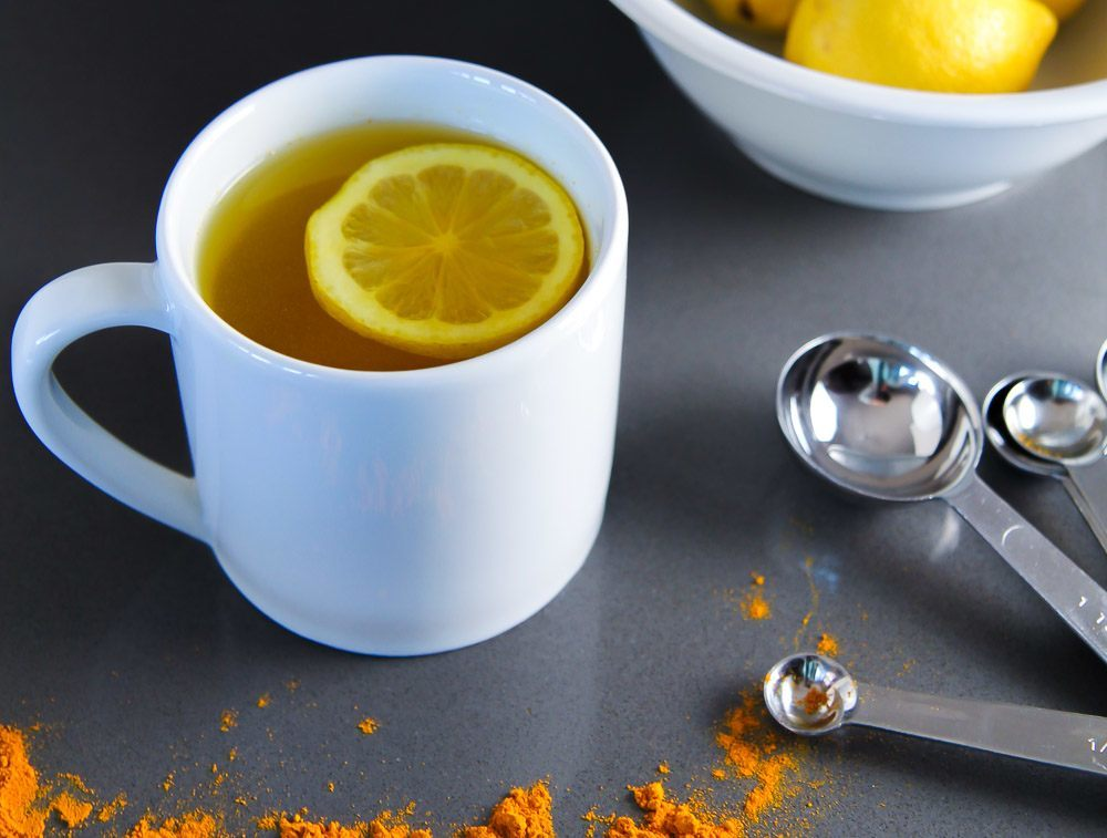 Warm Lemon Water with Turmeric Recipe