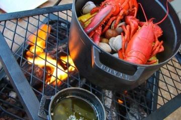 Lobster bake at Aragosta in Boston with kids