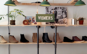 Wall of TOMS SHOES in La Jolla pop-up store