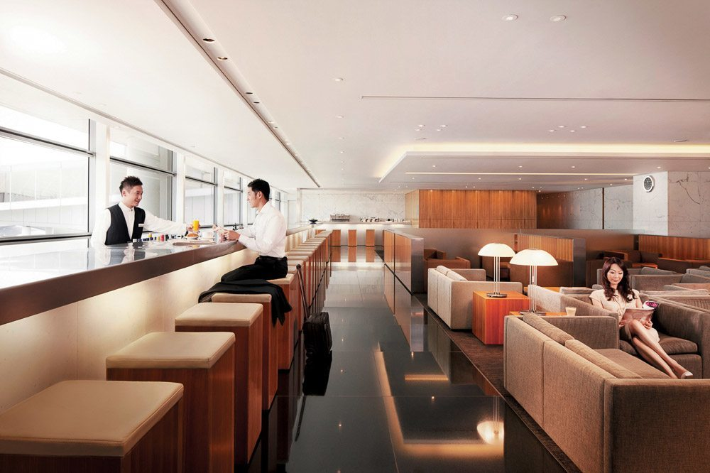 Cathay Pacific Pier Lounge Long Bar