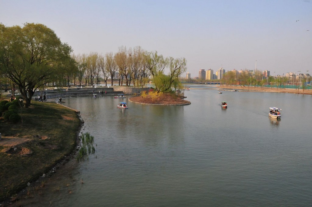 Boats in Chaoyang Park, a great thing to do in Beijing with kids