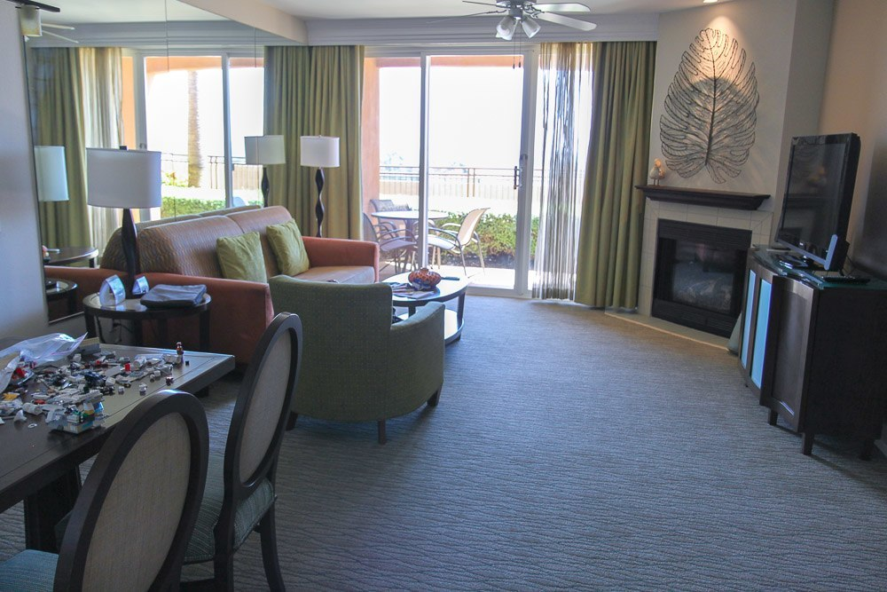 Grand Pacific Palisades Resort suite living room