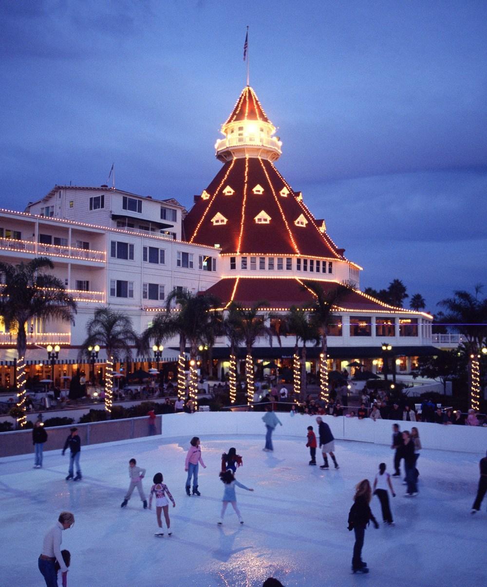 Hotel Del Coronado ice rink