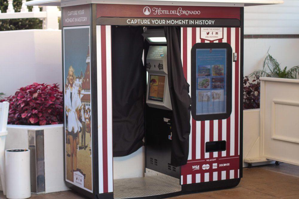 The photo booth near MooTime Creamery at Hotel Del Coronado