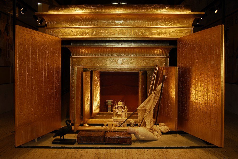 King Tut Opened Shrine