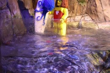 LEGO figure in a SEA LIFE Aquarium exhibit in Carlsbad