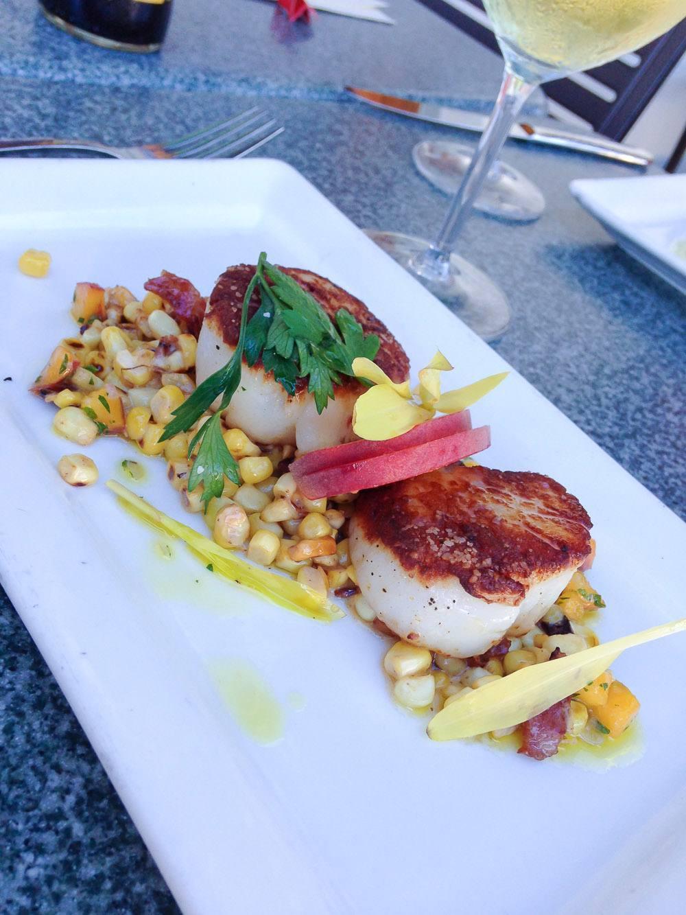 The Fishery Restaurant's Seared Scallops