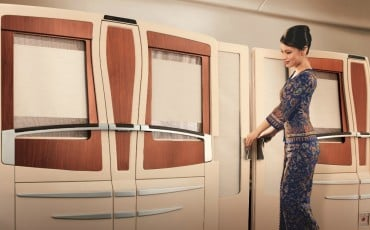 Singapore Airlines suites class exterior vie