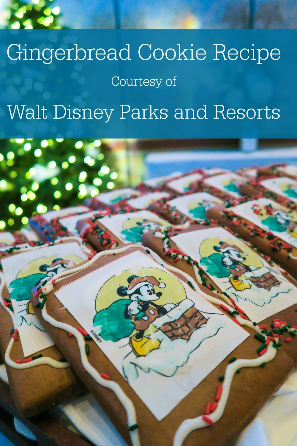 Recipe for Disneyland's Gingerbread Cookies