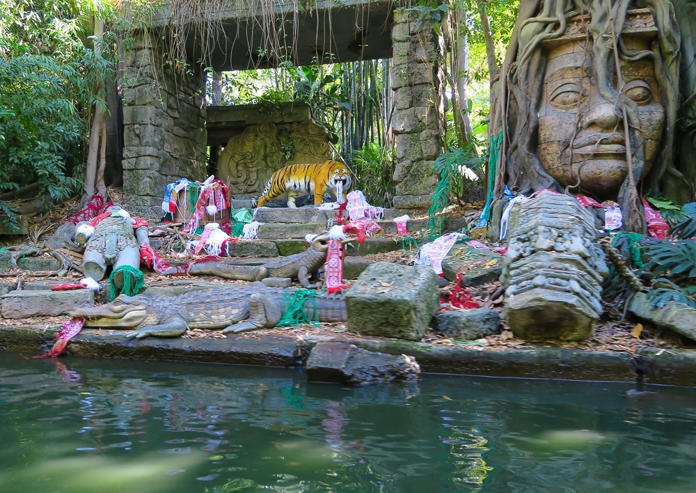 Jungle Cruise becomes Jingle Cruise during the holidays at Disneyland Park