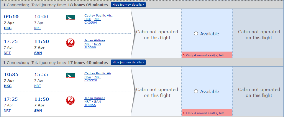 Check long haul flight availability using a British Airways Avios account