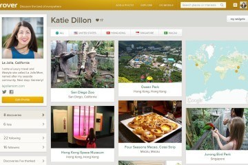 The Trover travel planning app