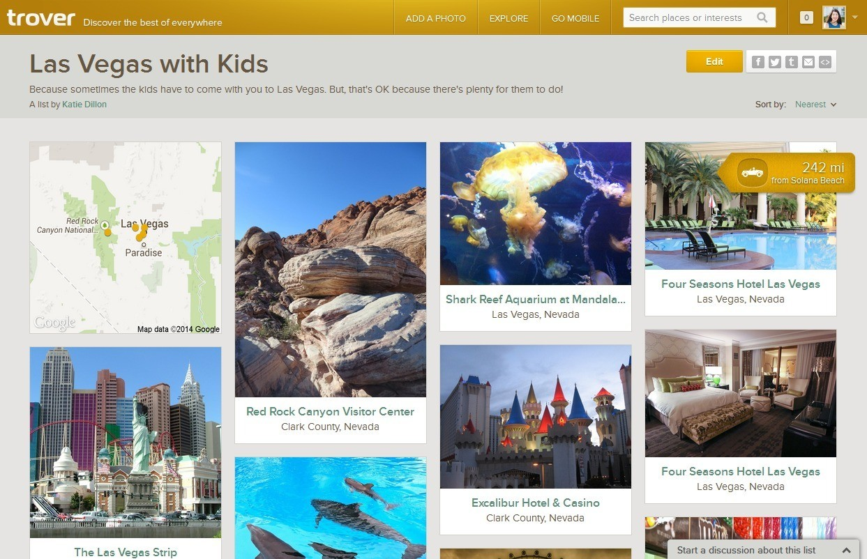 Make travel to-do lists on Trover