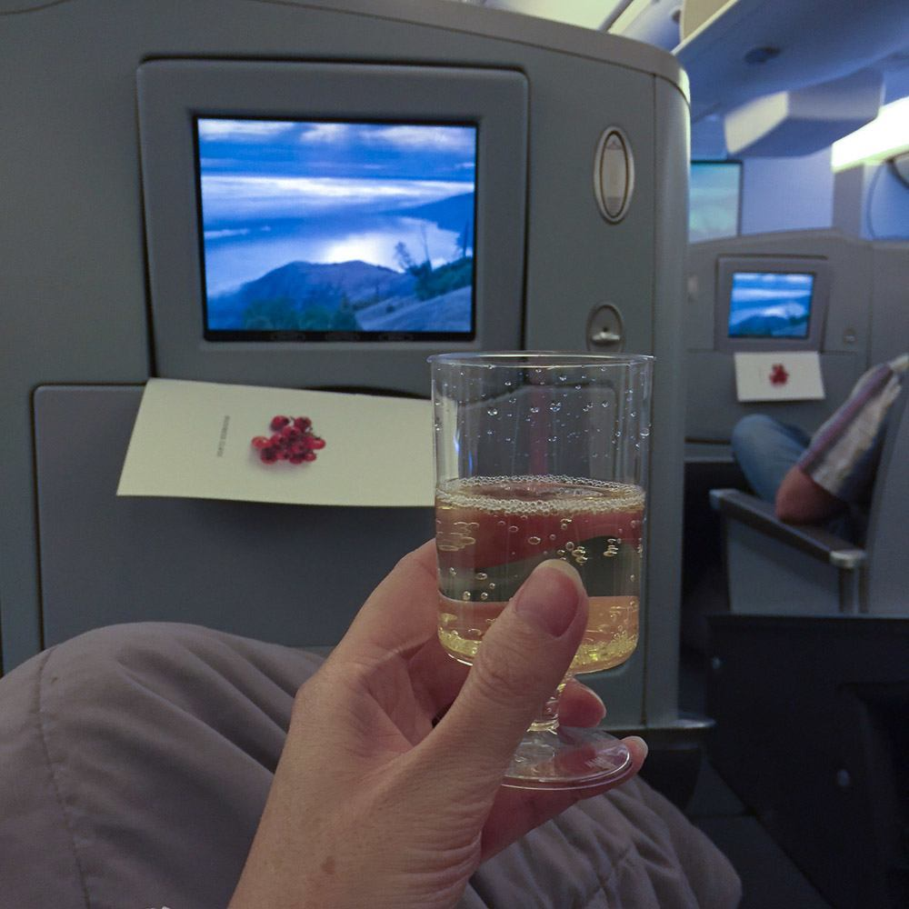 American Airlines business class to Frankfurt