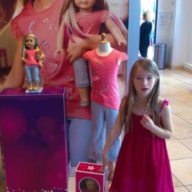The Scene at American Girl Place on New Year's Day